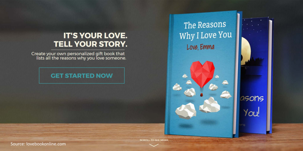 lovebook create your own book format love messages online beyond
