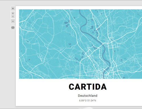 Cartida: customizable map-based art prints from an online store