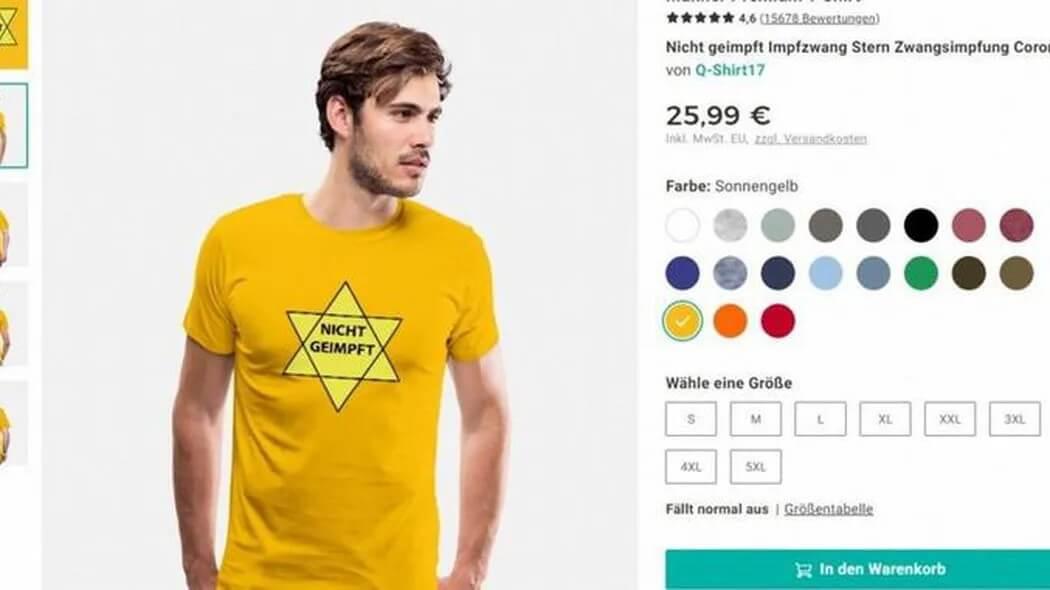 Market: Spreadshirt removes tasteless Star of David motif