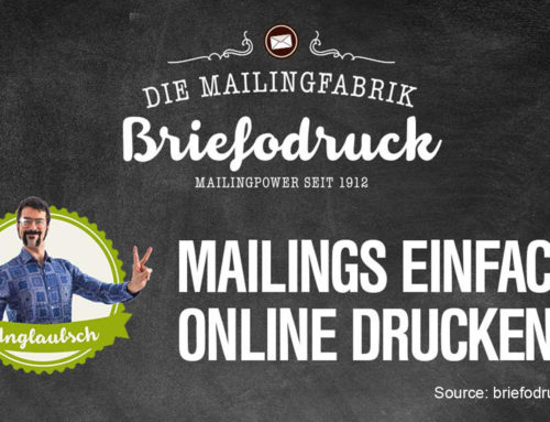 Briefodruck: smart direct mailshots – innovatively and creatively done