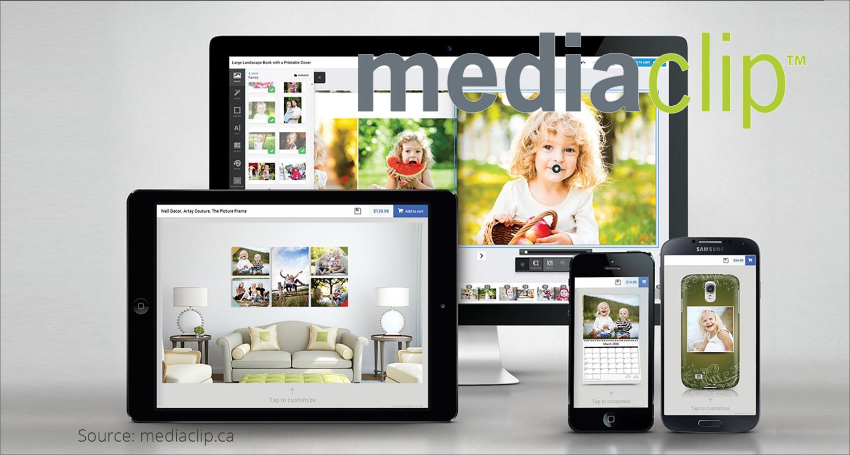 Mediaclip: print personalization using white-label software